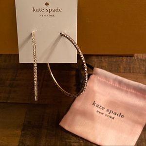Kate Spade | Rose Gold Pave Hoop Earrings | NWT